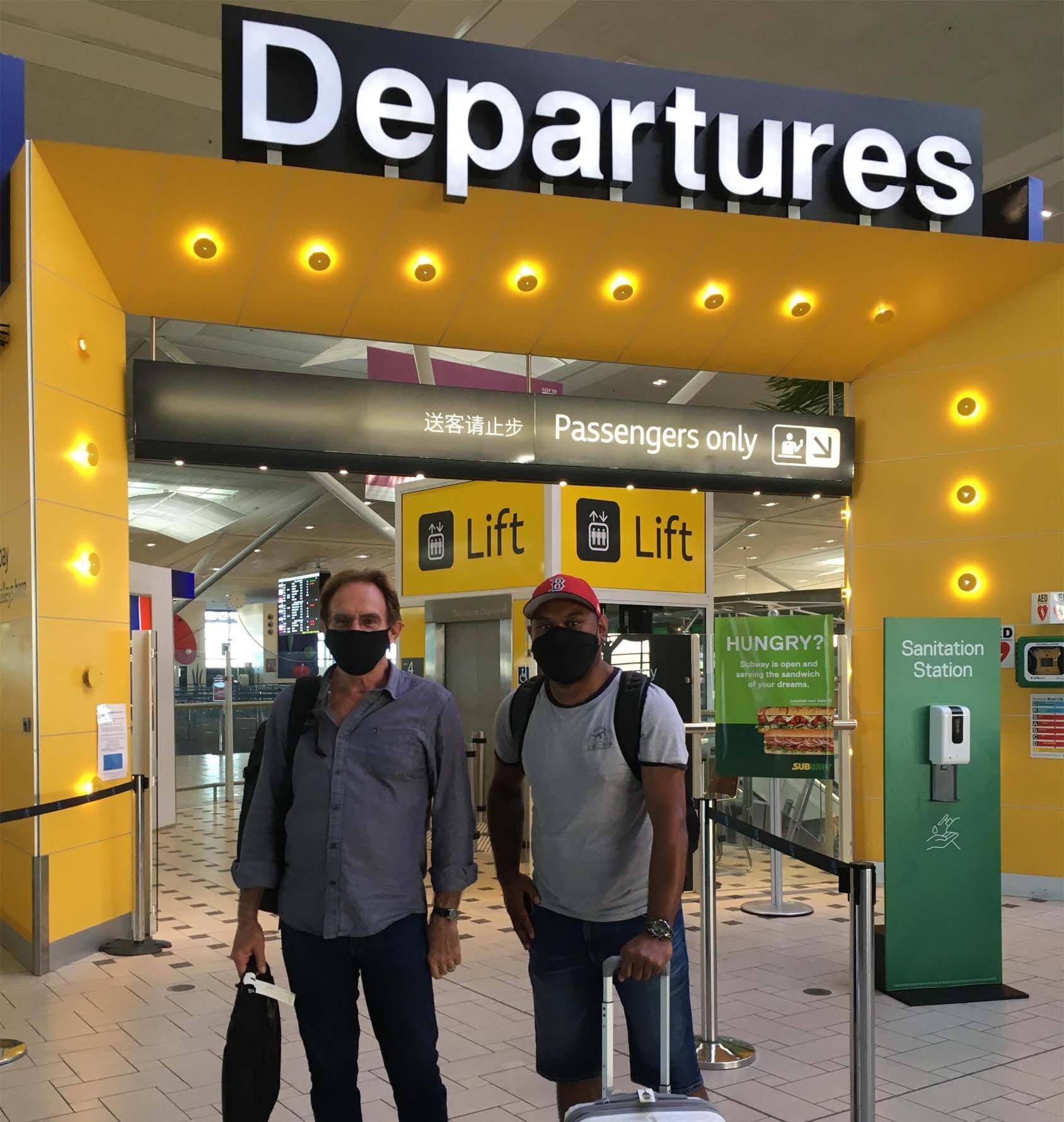 Dr Terry Sullivan and Mr Wili Suluma departing for Nauru
