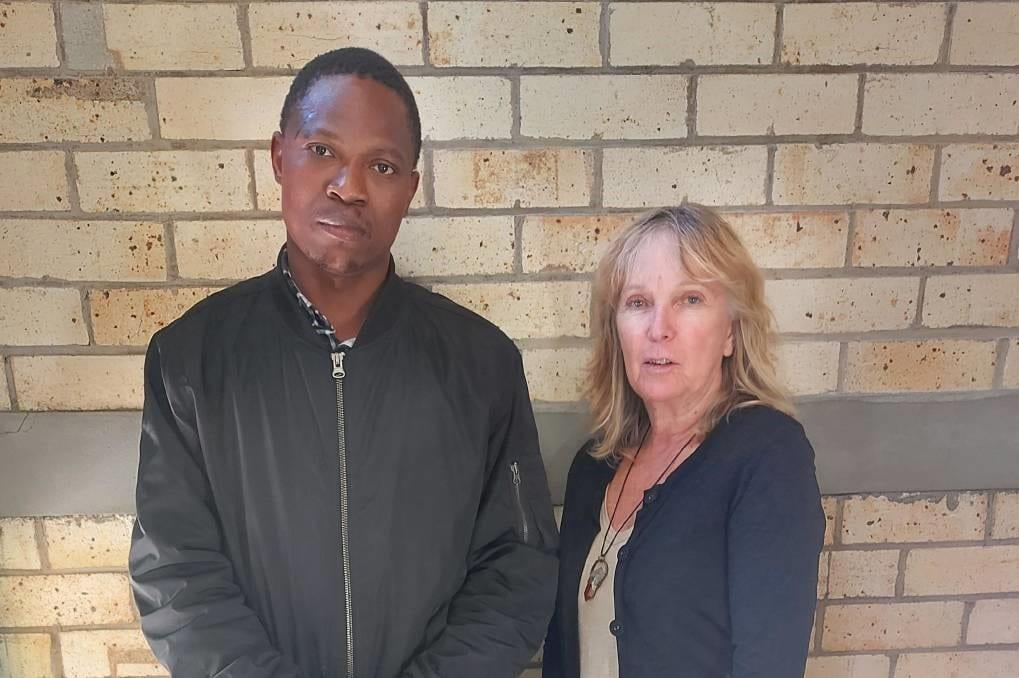 PhD student Godwin Yidana with Dr Johanna Garnett.