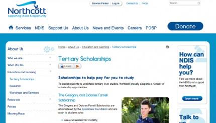 Northcott   Tertiary Scholarships