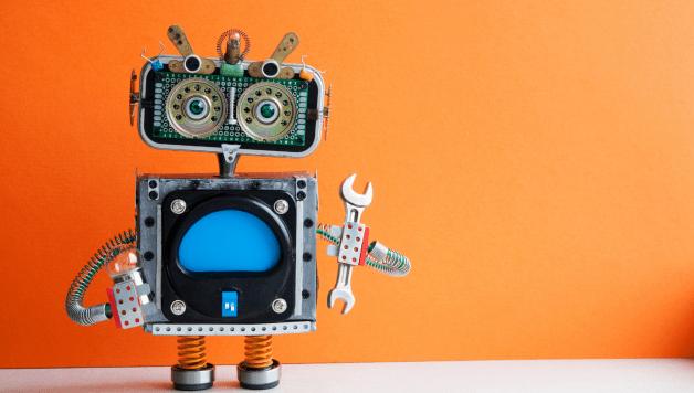 robot holding spanner