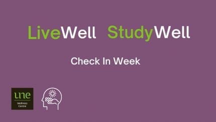 Check in Week - live well study well