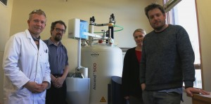 Left to Right: Julian Klepp, A/Prof Chris Fellows, Dr Michelle Taylor and Dr Ben Greatrex