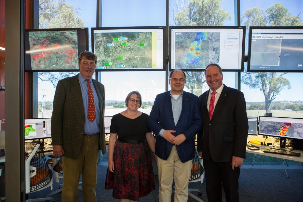 Chancellor James Harris, VC Annabelle Duncan, Minister Schmidt and DPM Joyce