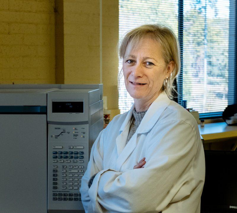 Susan Wilson in lab coat