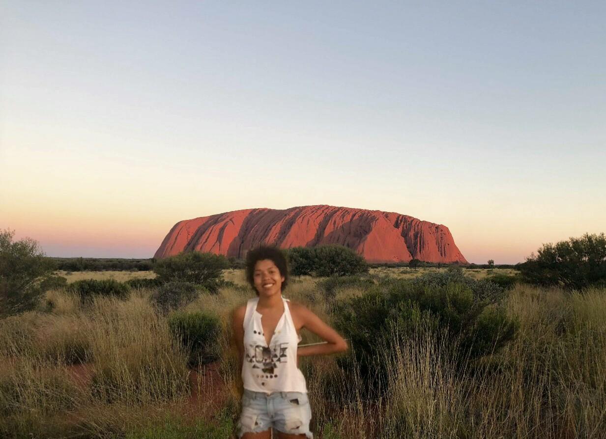 Ligia at Uluru