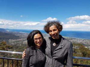 Nathalia and Professor Solange Teles Da Silva