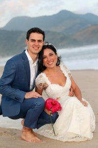 Nathalia and Fabio on their wedding day