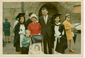 Rapiporn with her Australian host family in April 1970.