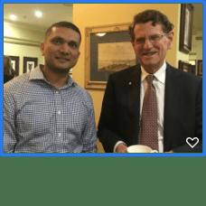 Dr Vivek Nemane with Robert French