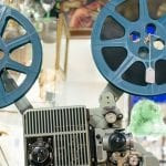 Old reel-to-reel film projector