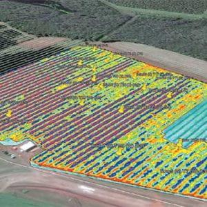 Satellite image of field