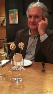 Dad wasn't thrilled that a Doduo was on the table