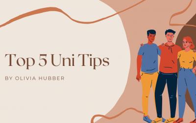 Top 5 tips for starting university!