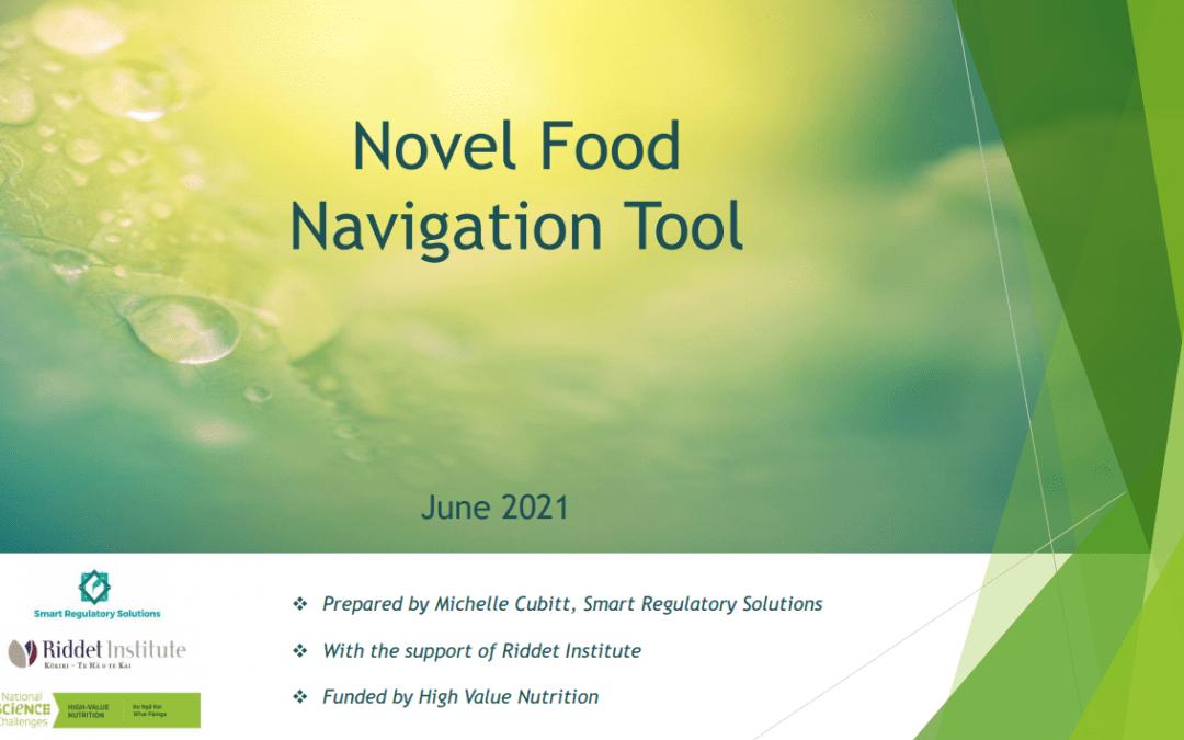 New HVN Novel Foods Navigation Tool