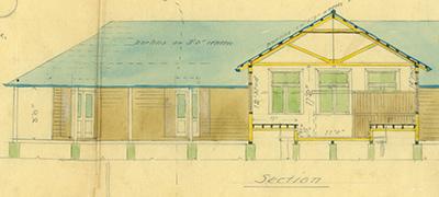 Plan of proposed barracks in Port Vila (1910)