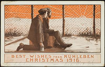 1916 Cchristmas card sent by Albert Jones