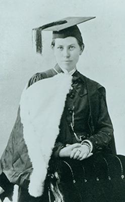 Kate Edger, BA 1877.