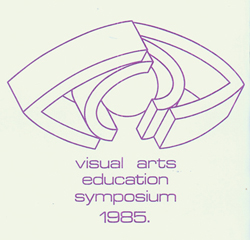 Logo of the Visual Arts Education Symposium 1985