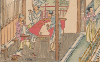 Detail from illustration in Yu zhi geng zhi tu.