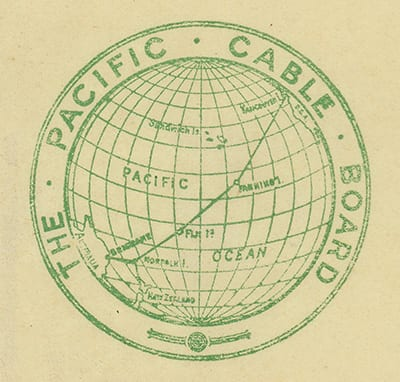 Pacific Cable Board logo. Western Pacific Archives.
