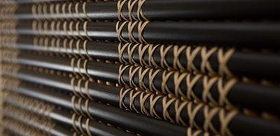 Detail: Tukutuku panel. Te Herenga Mātauranga Whānui | General Library, Level G.