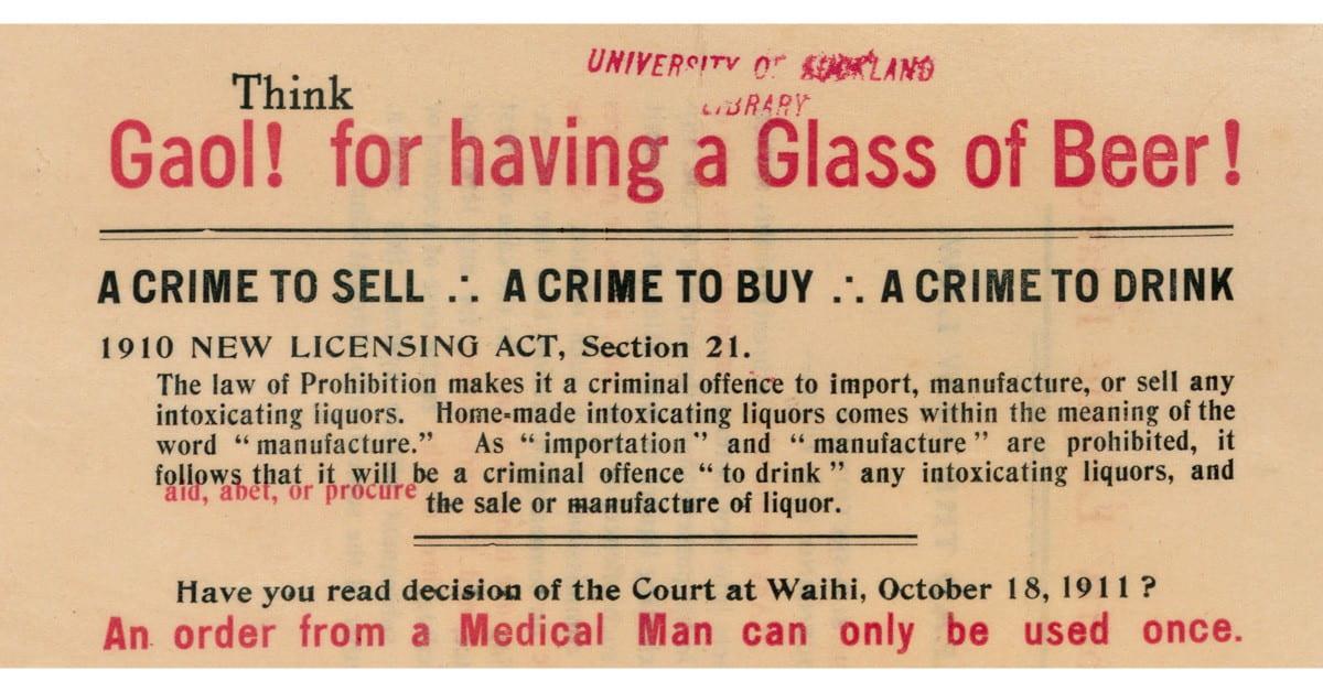 poster opposing the 1910 referenda