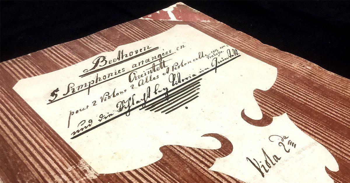 image of book cover: 5 Simphonies arrangeés en Quintett pour 2 Violons, 2 Violes et Violoncelle con Contrabasso