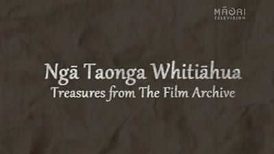 Logo image for documentary series Ngā Taonga Whitiāhua: Treasures from the Film Archive