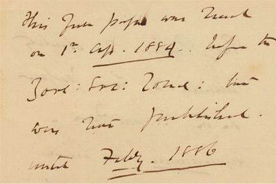 James Hector's note in the Transactions of the Zoological Society of London.