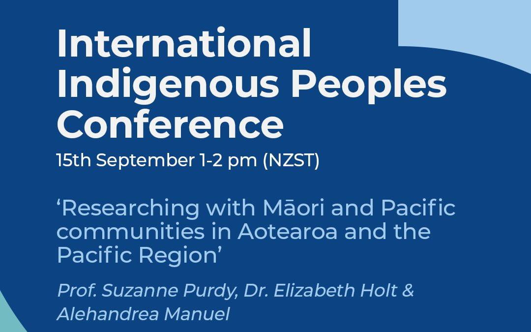 International Indigenous Peoples Conference – September 2021