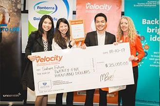 Winners of the Velocity $100K Challenge, team 'Suture Future'
