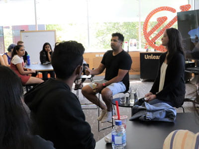 Visitors from Silicon Valley urge students to participate in Velocity