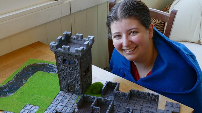 Annabelle Collins went from creating Dungeons and Dragons tiles to helping organise PPE during Covid-19.
