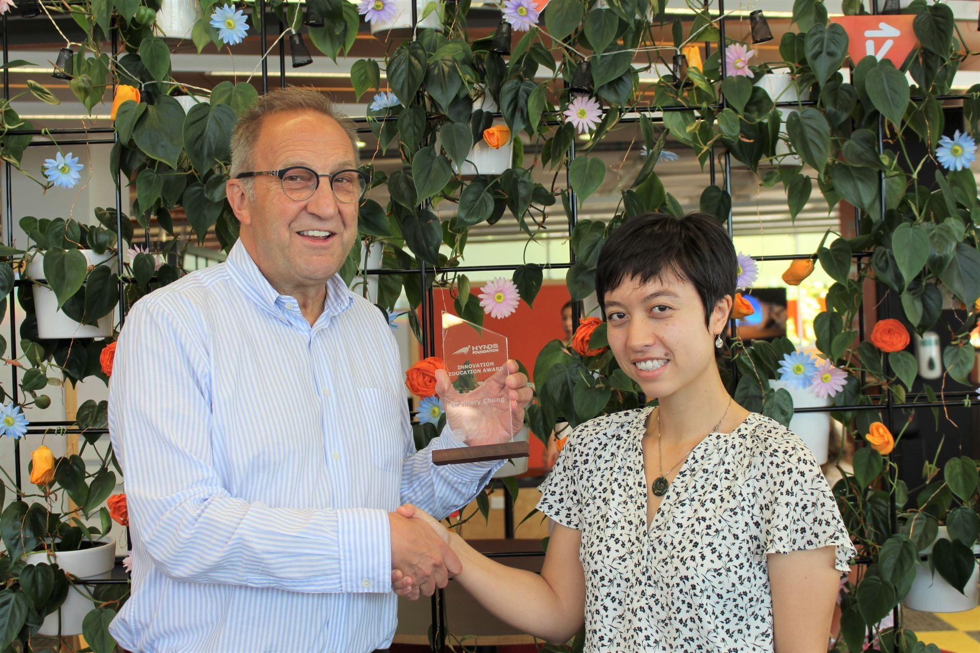 Mia Chung on behalf of Dr Hilary Chung