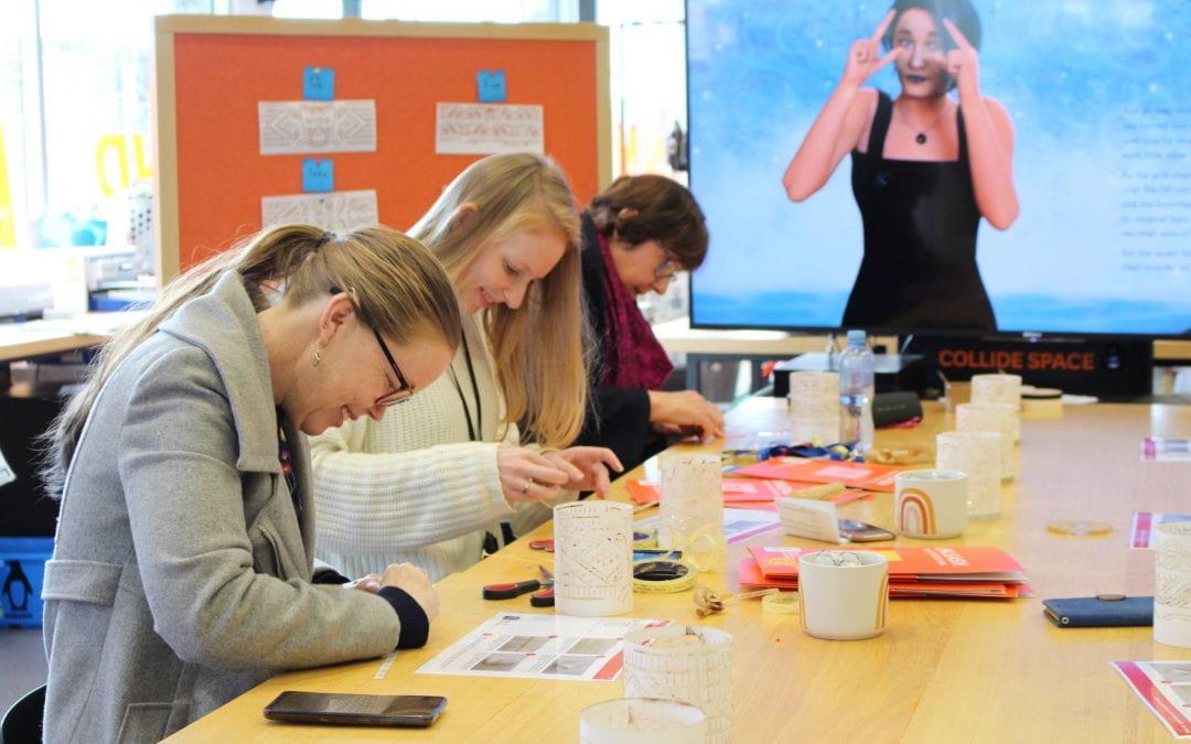 University staff light up at Matariki lantern making workshops