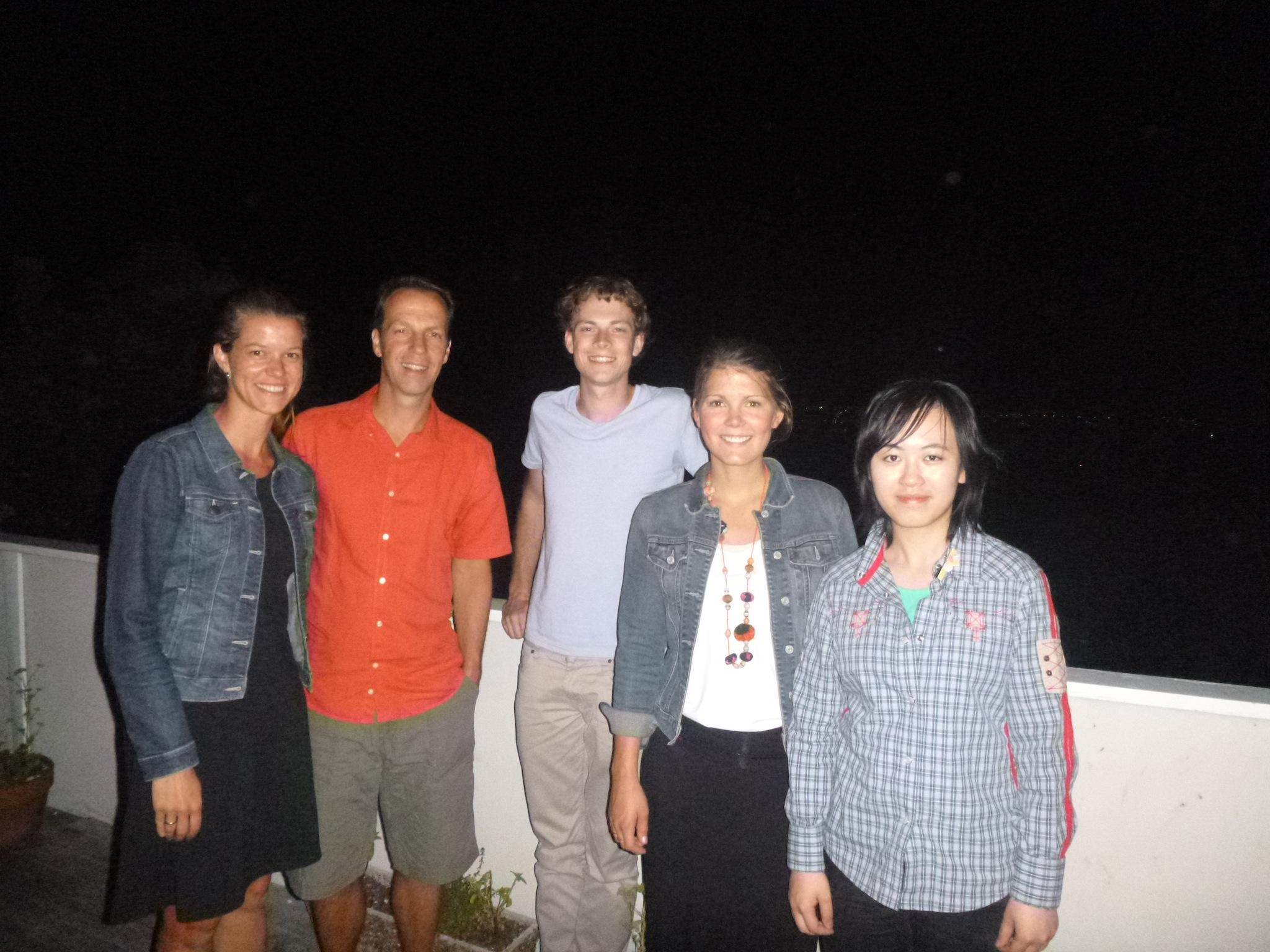 From left to right: Mila, Kasper, Sam, Jami and Rachel