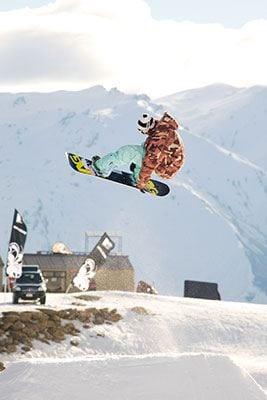 Snowboarder in Wanaka