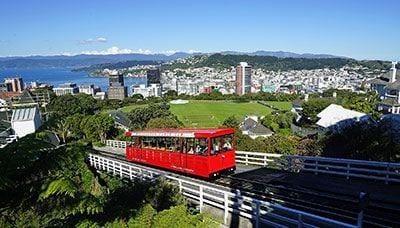 Funicular railway overlooking Wellington City