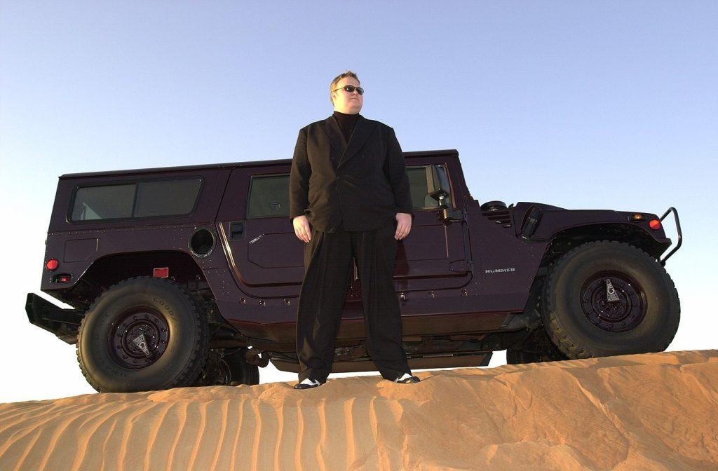 Dotcom and his vehicle
