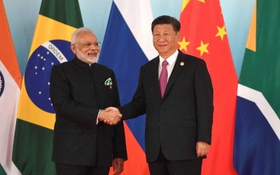 What is the cause of growing tension between China and India? 🔊