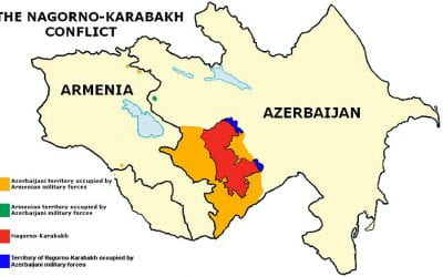 What is the ongoing Nagorno-Karabakh war about? 🔊