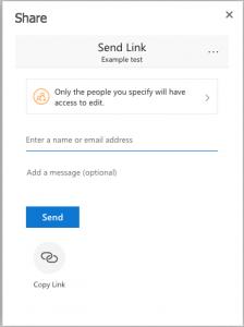 Send link
