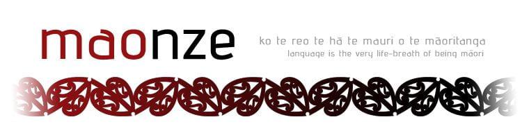 maonze kowhaiwhai banner