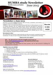 HUMBA Newsletter 1