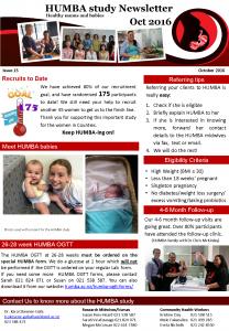 HUMBA Newsletter 15