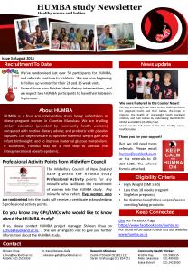 HUMBA Newsletter 3