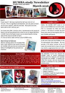 HUMBA Newsletter 9