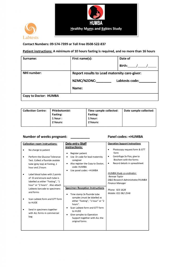 HUMBA Labtests OGTT Form