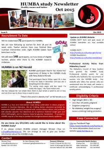 HUMBA Newsletter 5
