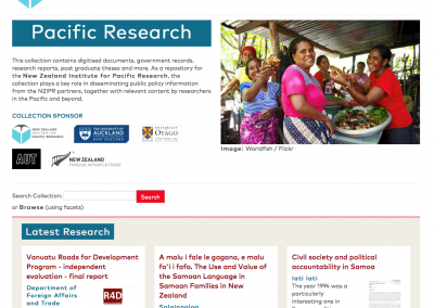 Giving Pacific research greater reach